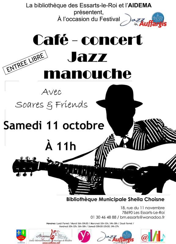 Caf-jazz manouche le 11 octobre